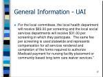 general information uai57
