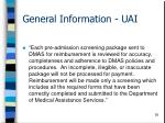 general information uai58