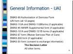 general information uai60