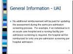 general information uai61