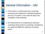 general information uai62