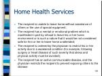 home health services128