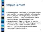 hospice services124