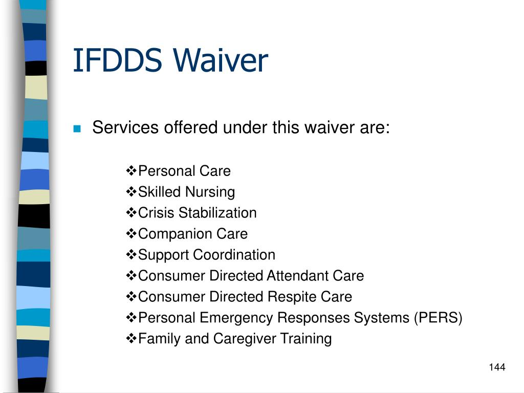 IFDDS Waiver