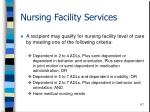 nursing facility services
