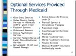 optional services provided through medicaid