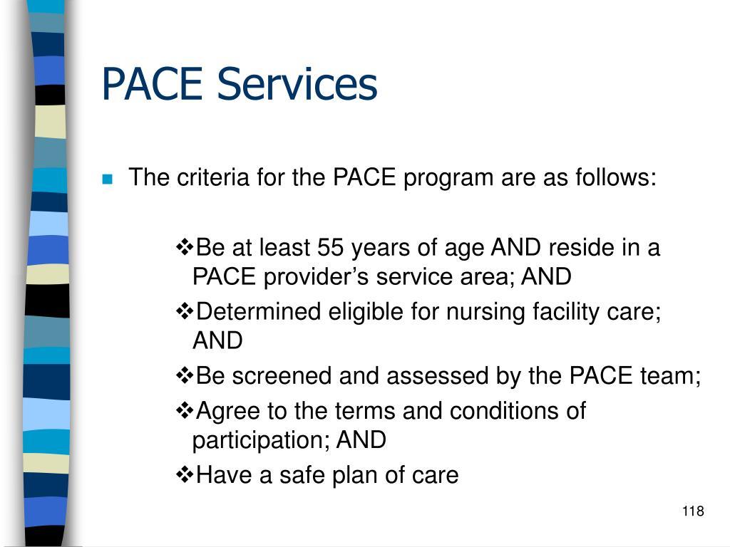 PACE Services