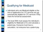 qualifying for medicaid