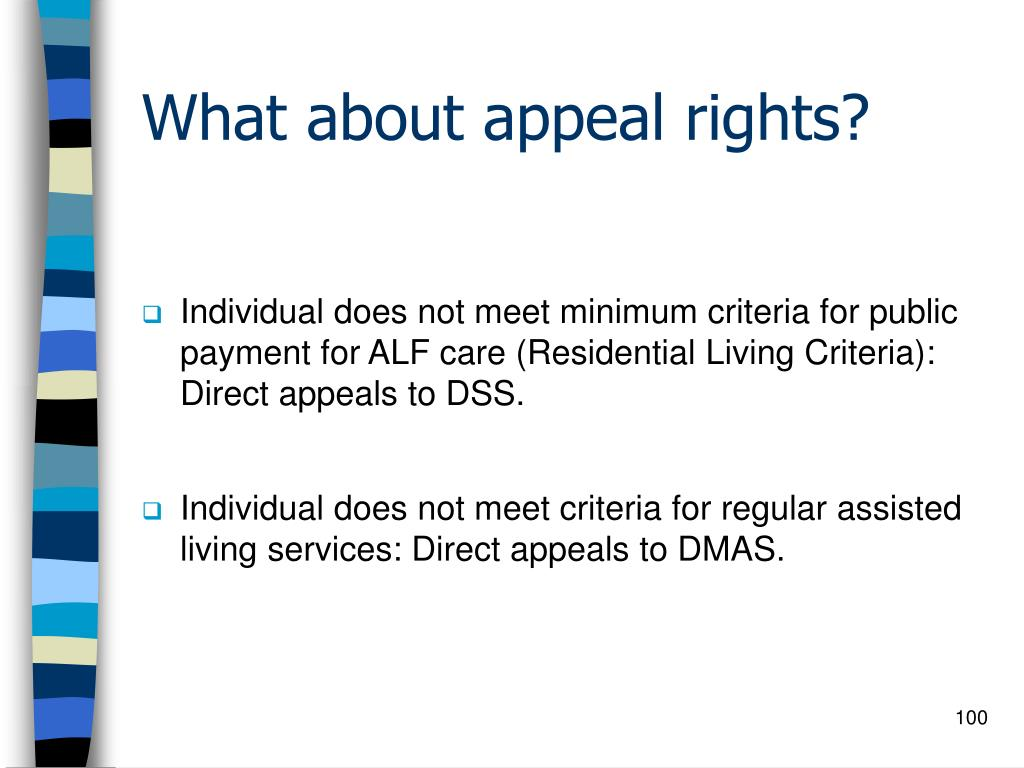 What about appeal rights?