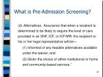 what is pre admission screening26