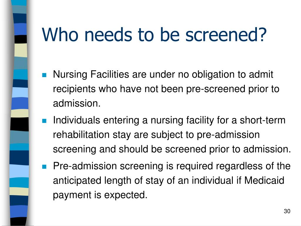 Who needs to be screened?
