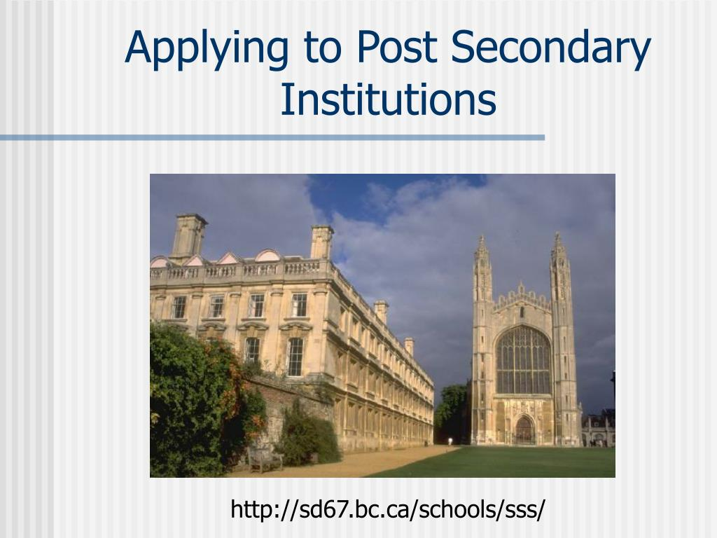 applying to post secondary institutions l.
