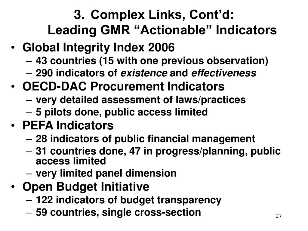 Complex Links, Cont'd: