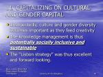 11 capitalizing on cultural and gender capital