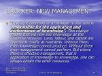 drucker new management