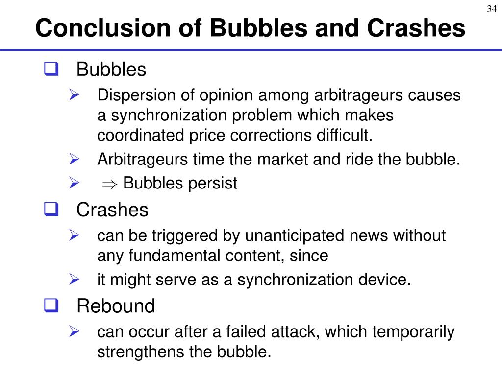 Conclusion of Bubbles and Crashes