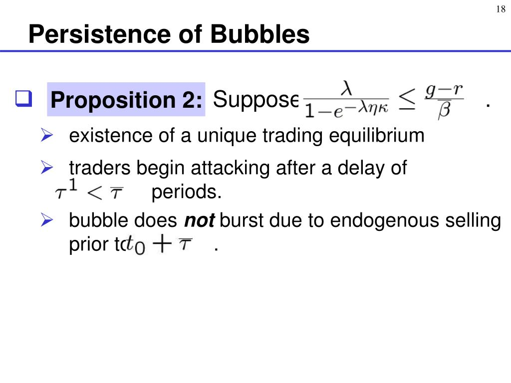 Persistence of Bubbles