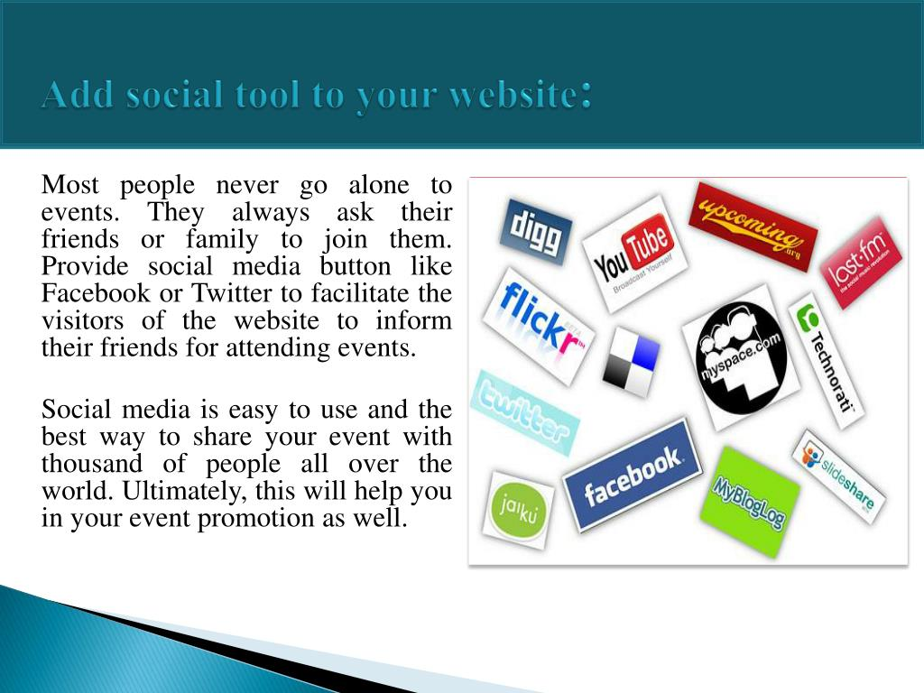 Add social tool to your website