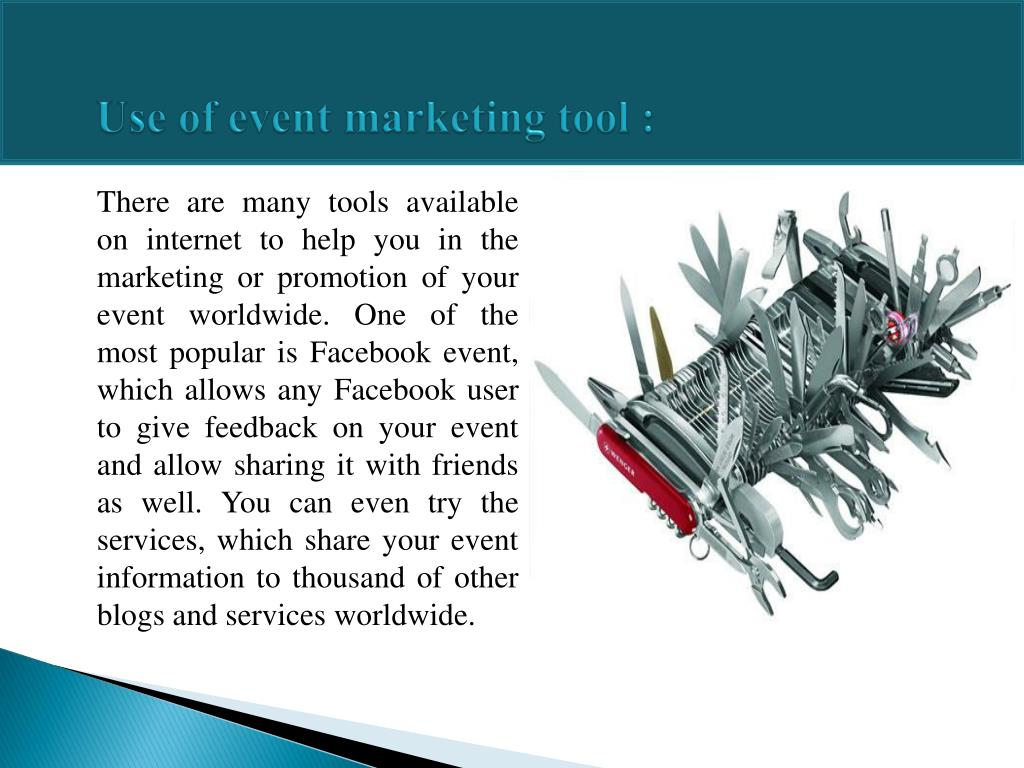 Use of event marketing tool :