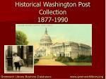 historical washington post collection 1877 1990