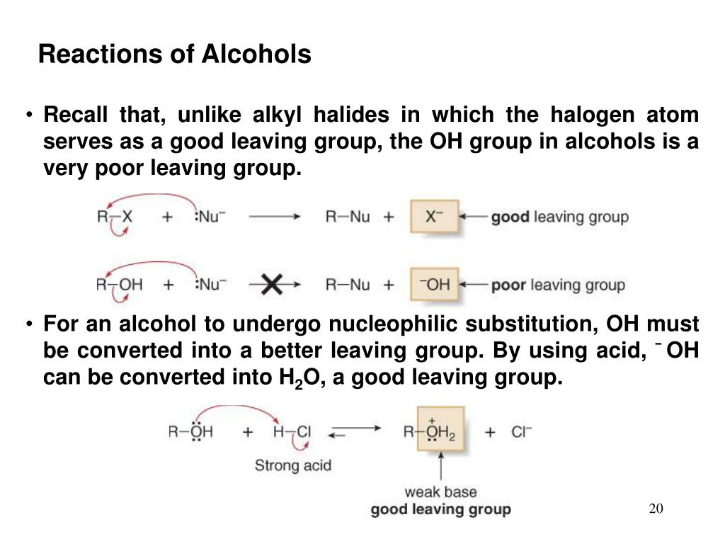 Reactions of Alcohols