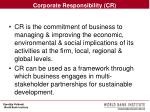 corporate responsibility cr