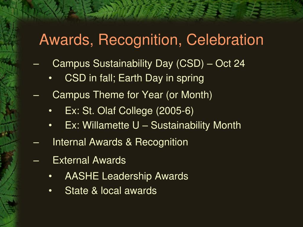 Awards, Recognition, Celebration