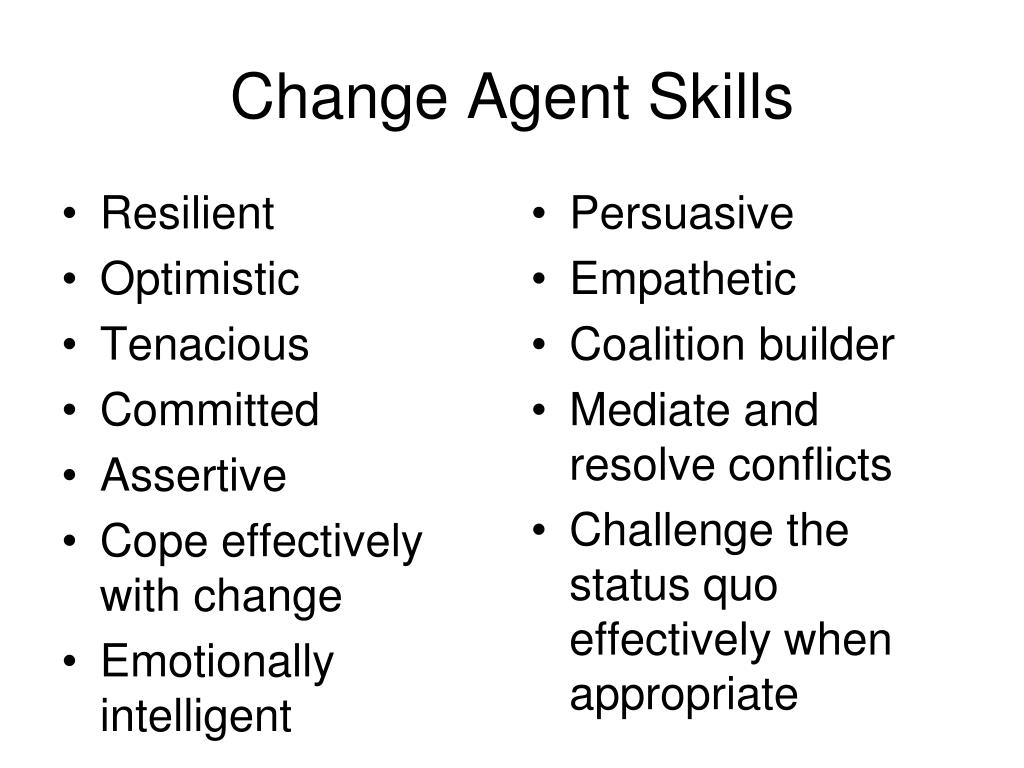 Change Agent Skills