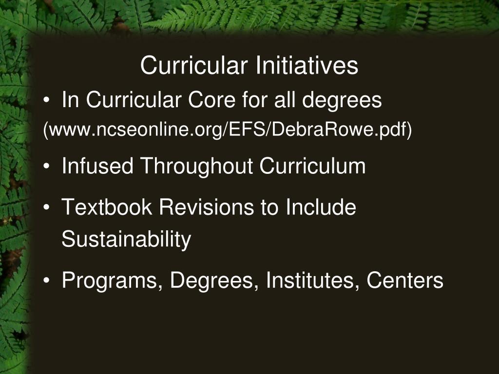 Curricular Initiatives