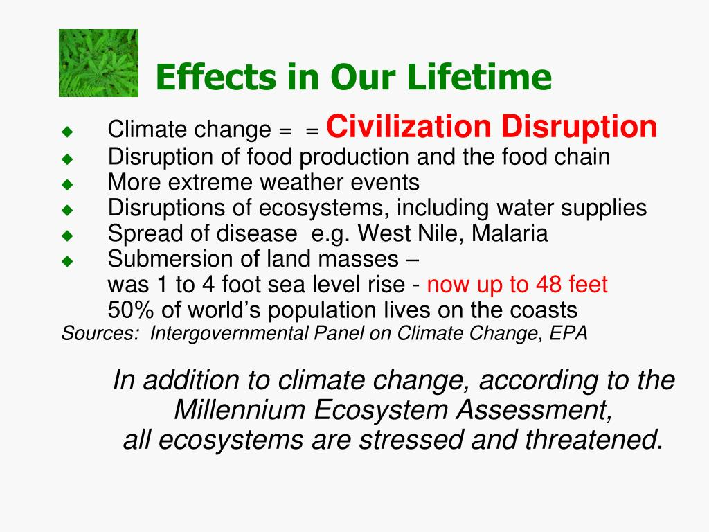 Climate change =  =