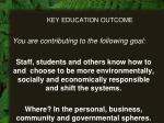 key education outcome