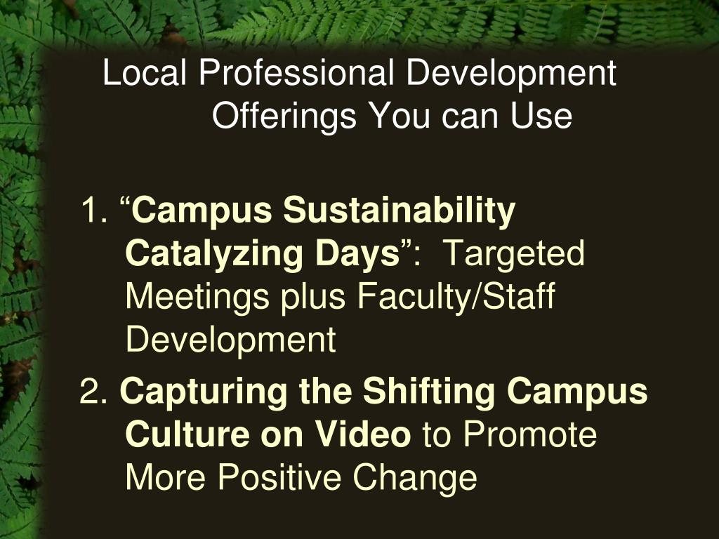 Local Professional Development Offerings You can Use