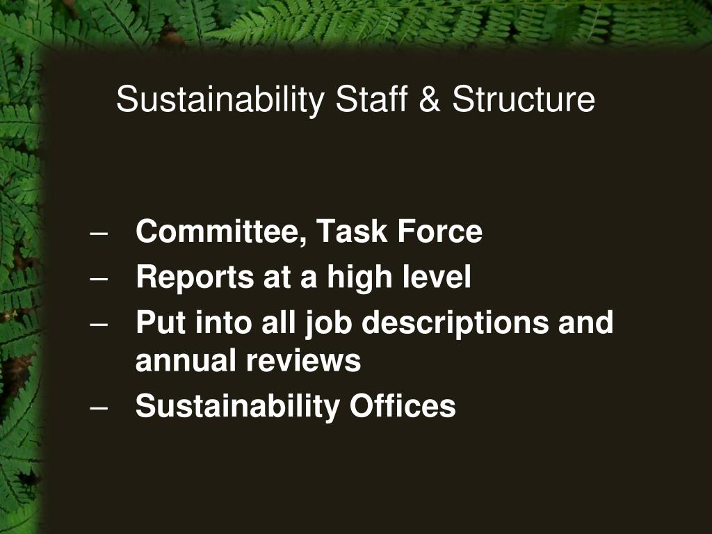 Sustainability Staff & Structure