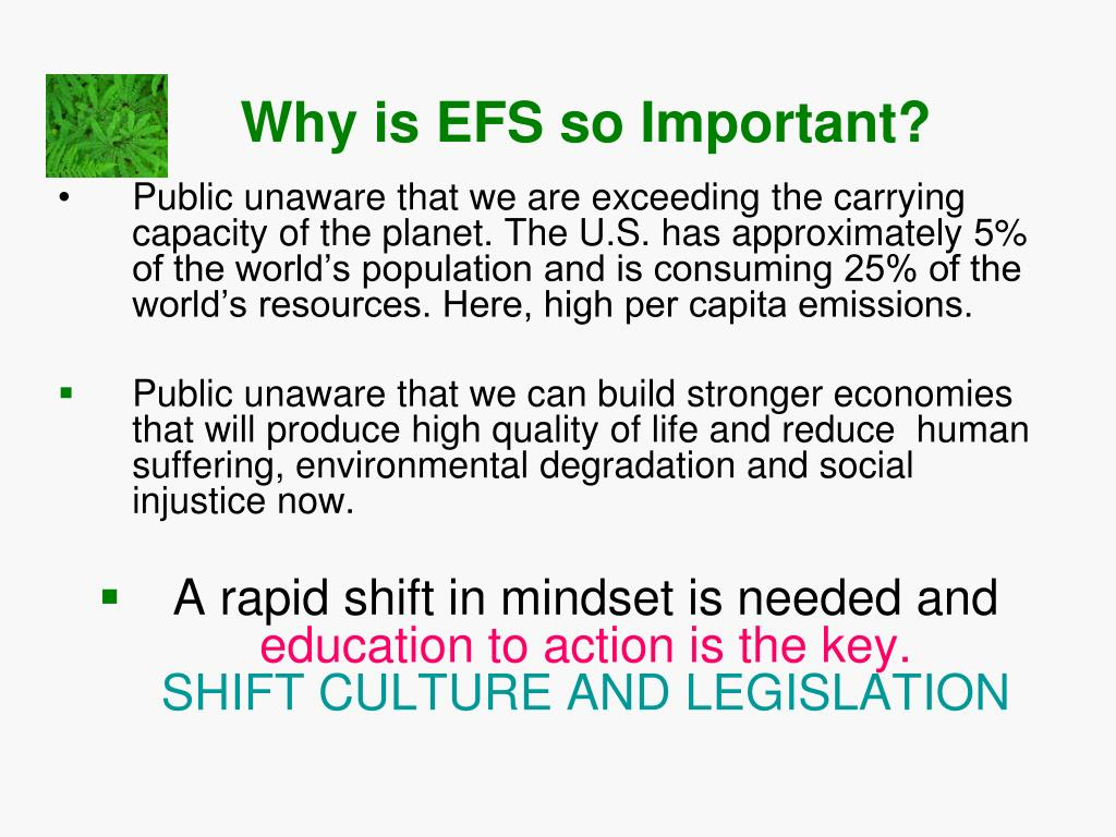 Why is EFS so Important?
