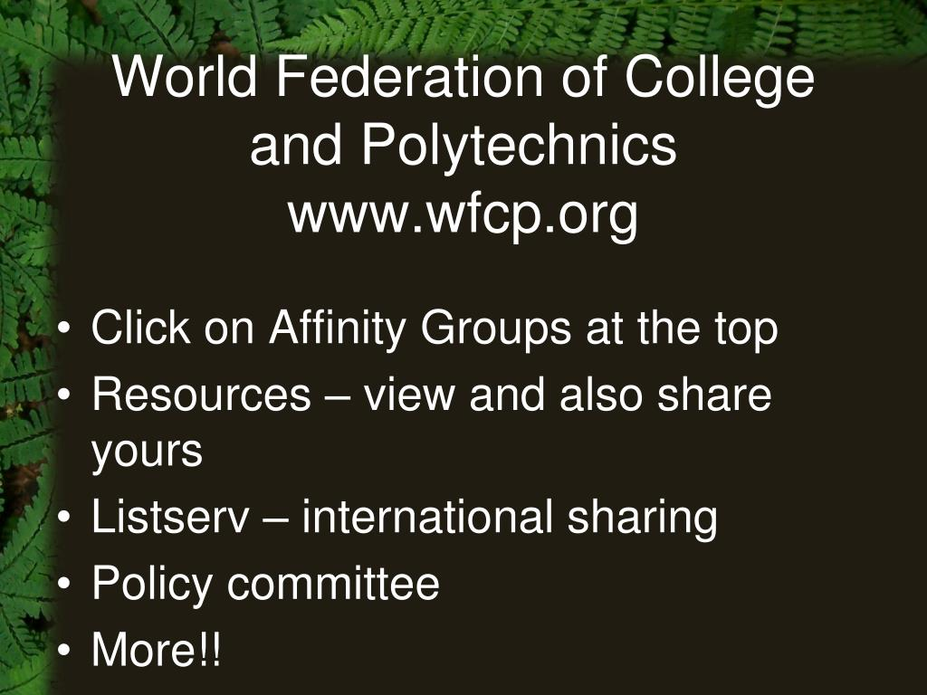 World Federation of College and Polytechnics