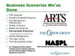 business scenarios we ve done