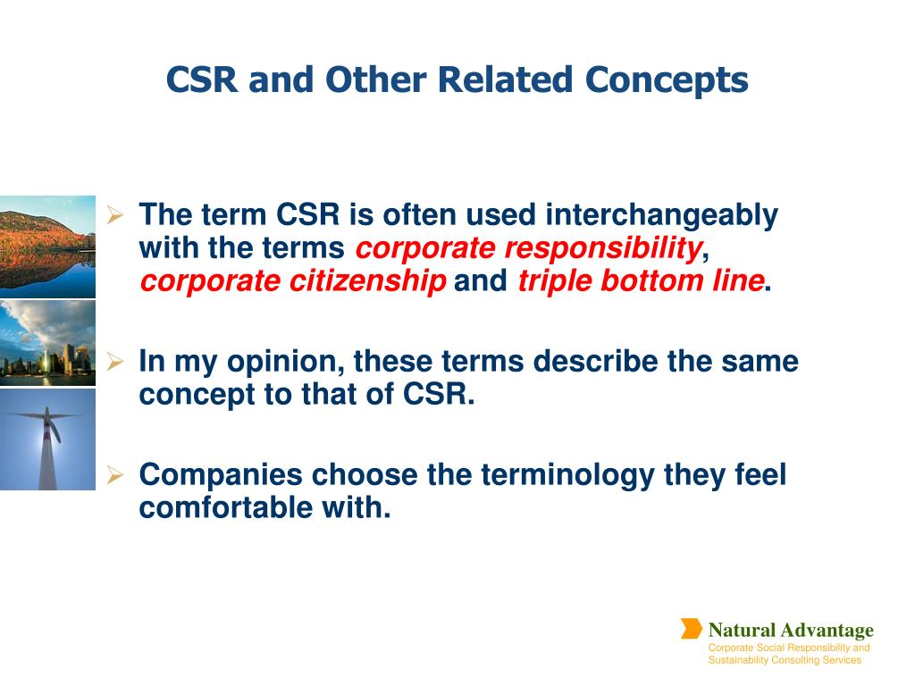 The term CSR is often used interchangeably with the terms