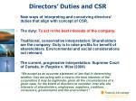 directors duties and csr