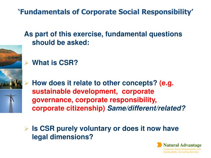 Fundamentals of corporate social responsibility3