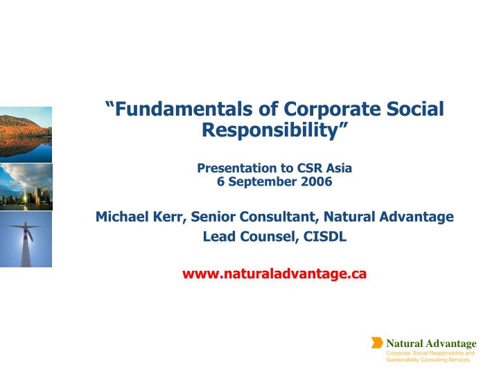 """Fundamentals of Corporate Social Responsibility"""