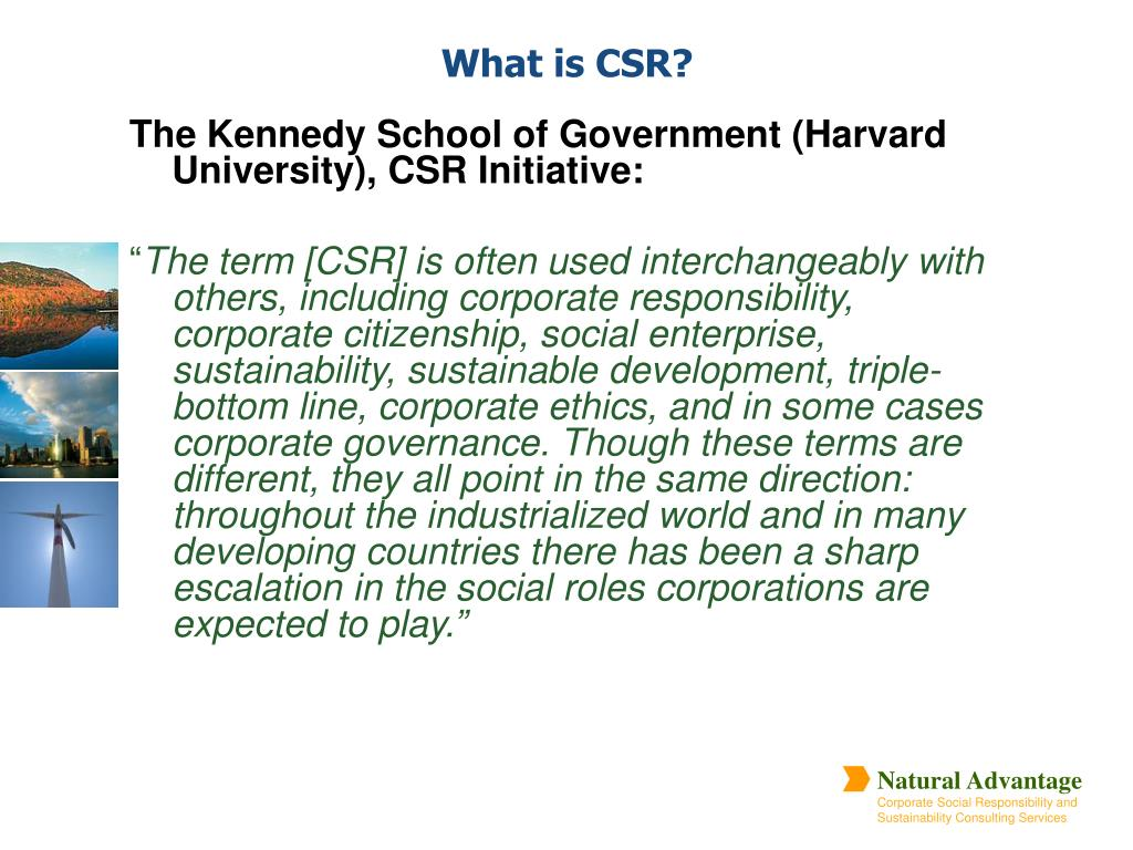 The Kennedy School of Government (Harvard University), CSR Initiative: