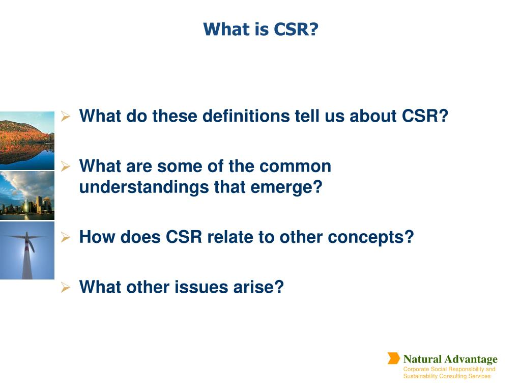 What do these definitions tell us about CSR?