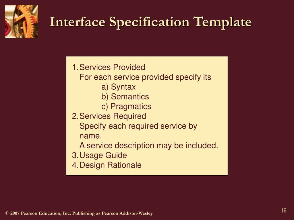 Interface Specification Template