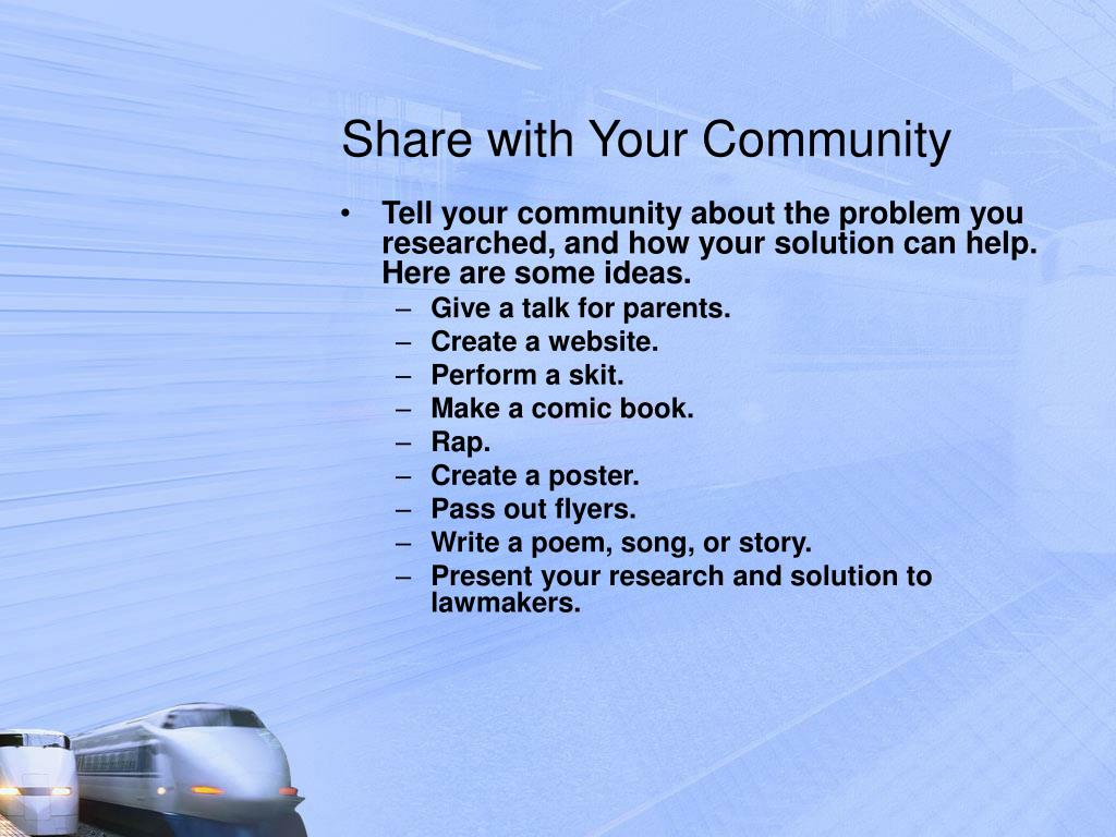 Share with Your Community