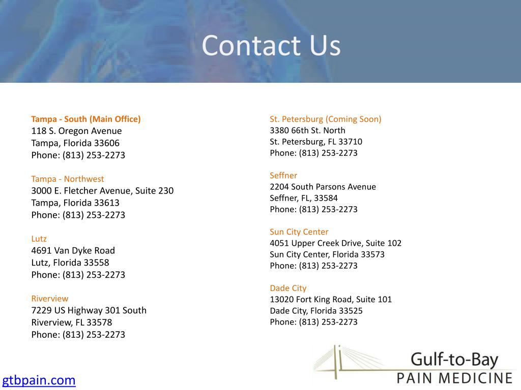 Contact Us - Locations