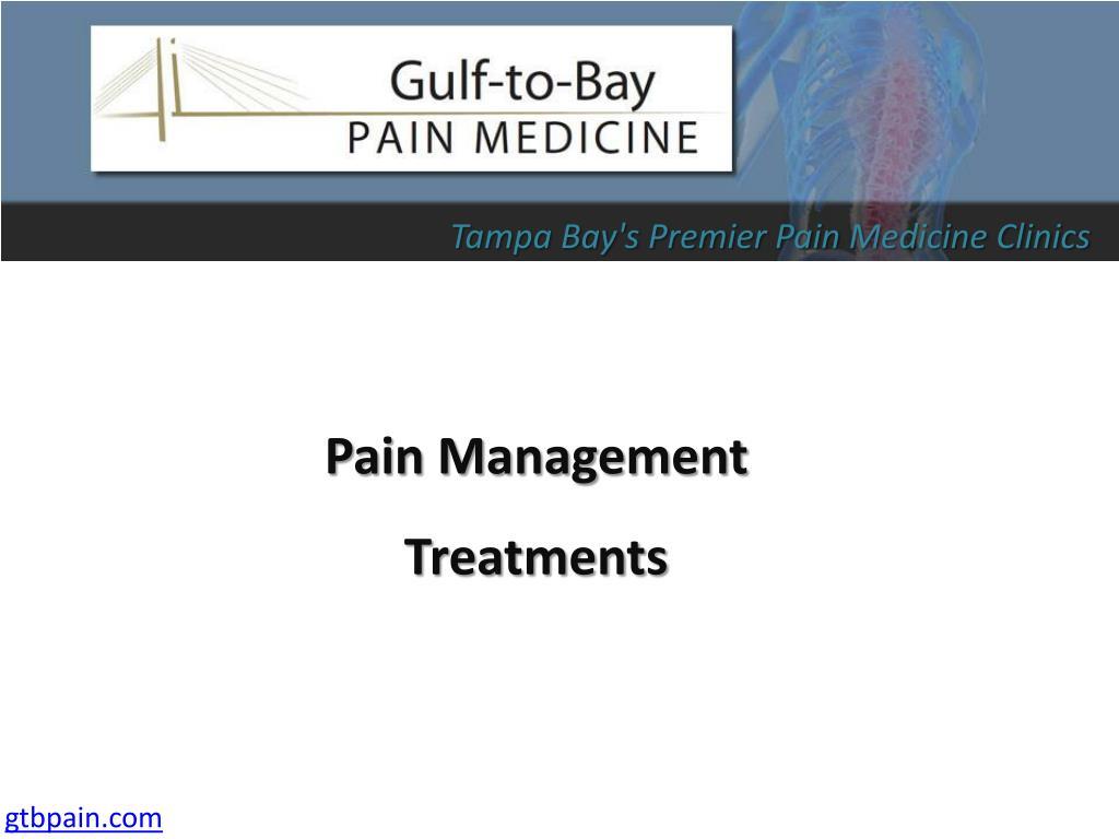 pain management treatments l.