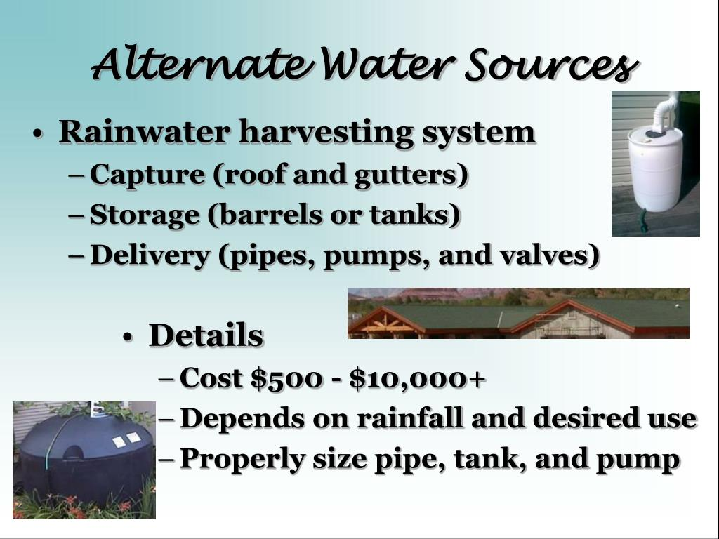 Alternate Water Sources
