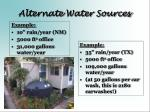 alternate water sources14