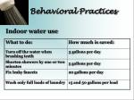 behavioral practices