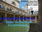sustainable operations water in the built environment